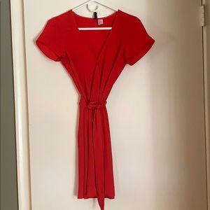 NWT red wrap dress size 0